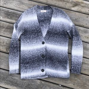 Hollister Ombre Button Up Cardigan
